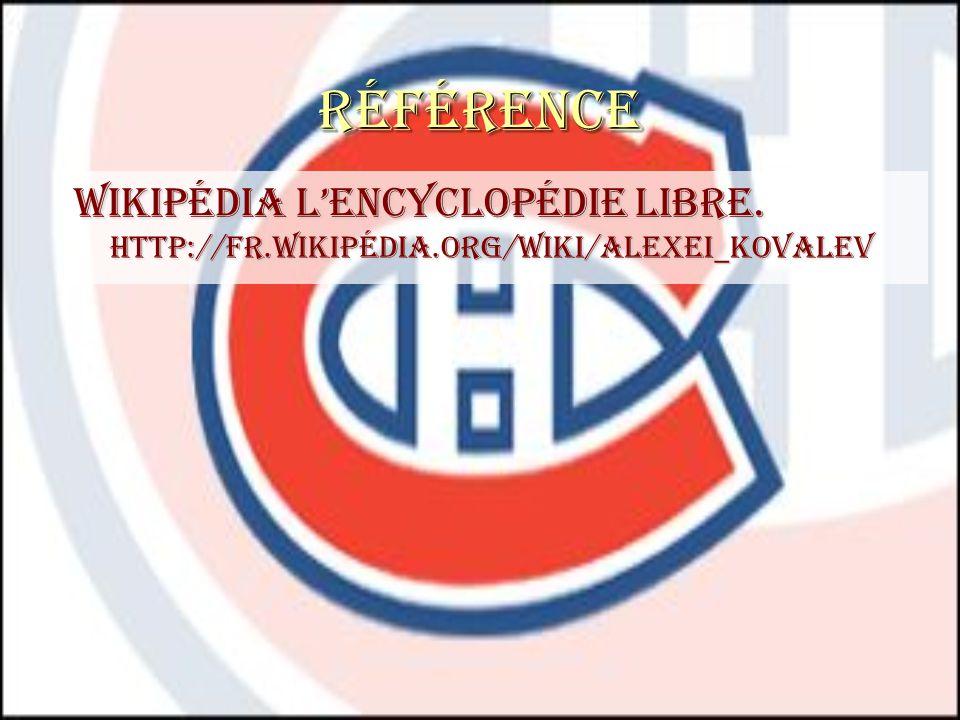 Référence Wikipédia lencyclopédie libre. http://fr.wikipédia.org/wiki/alexei_kovalev