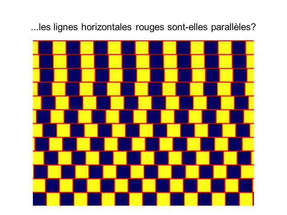 ...les lignes horizontales rouges sont-elles parallèles?