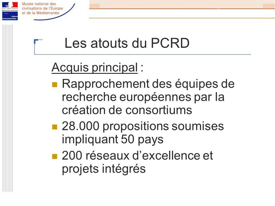 Les défauts du PCRD Un programme supplémentaire sans réelle articulation avec les programmes nationaux « saupoudrage » des crédits en une multitude de petits projets ê impact insuffisant