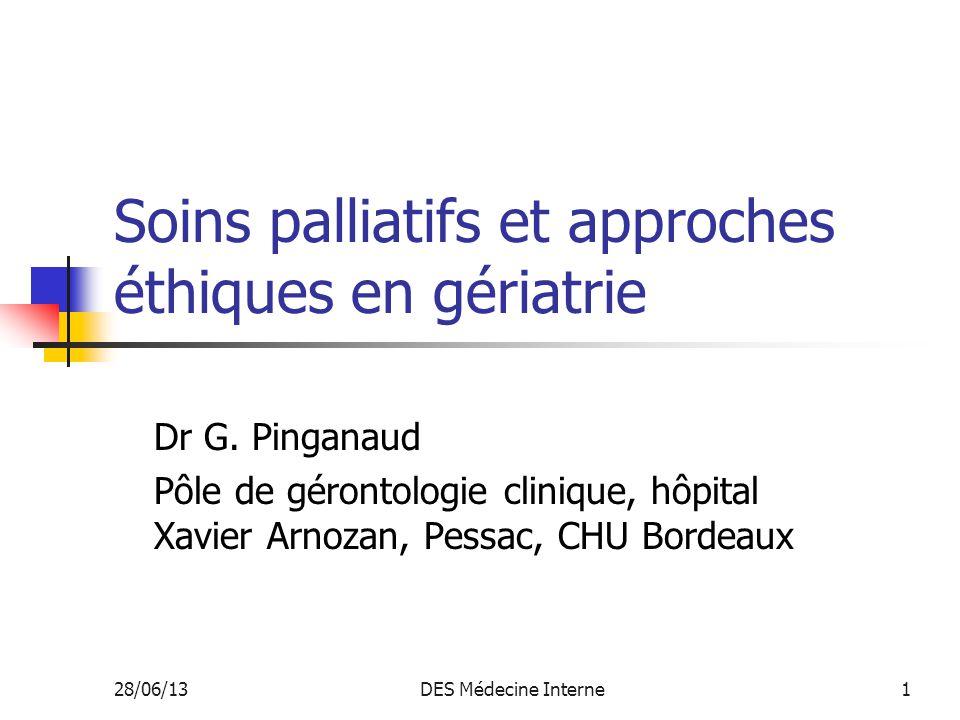 28/06/13DES Médecine Interne42 Outils décisionnels La grille de questionnement éthique de R.