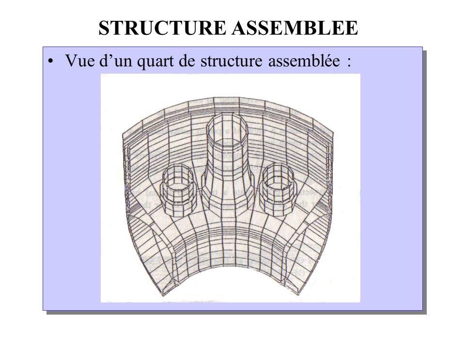 STRUCTURE ASSEMBLEE Vue dun quart de structure assemblée :