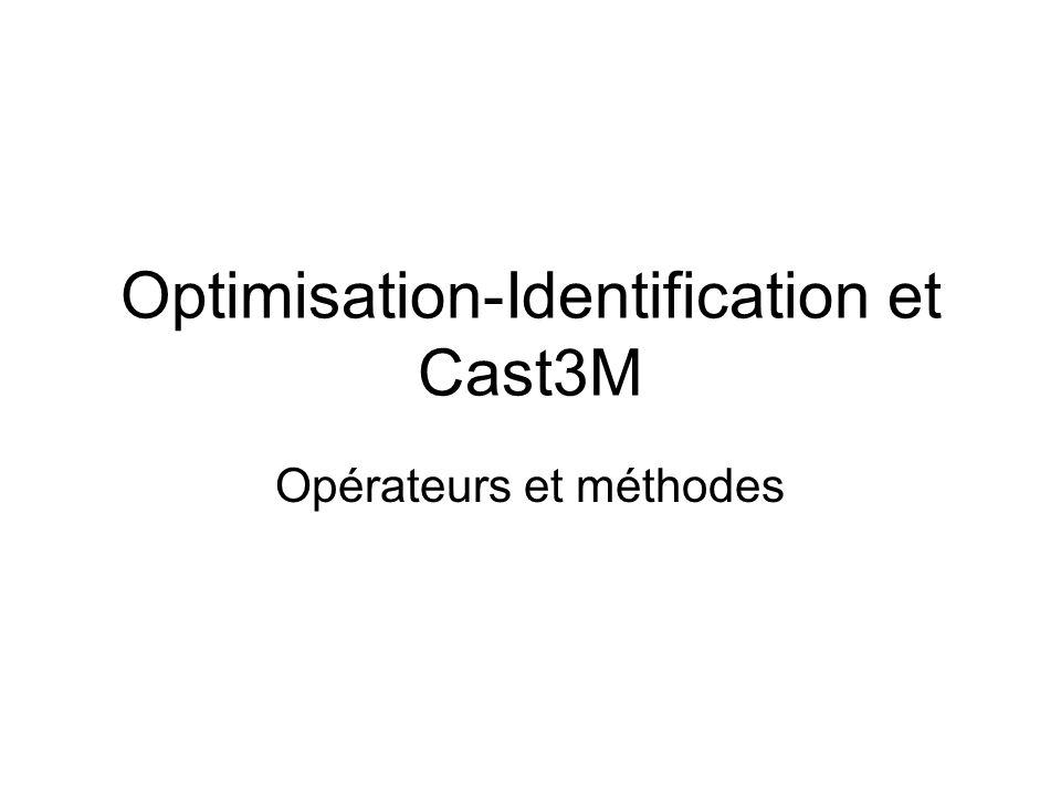 Optimisation-Identification et Cast3M Opérateurs et méthodes