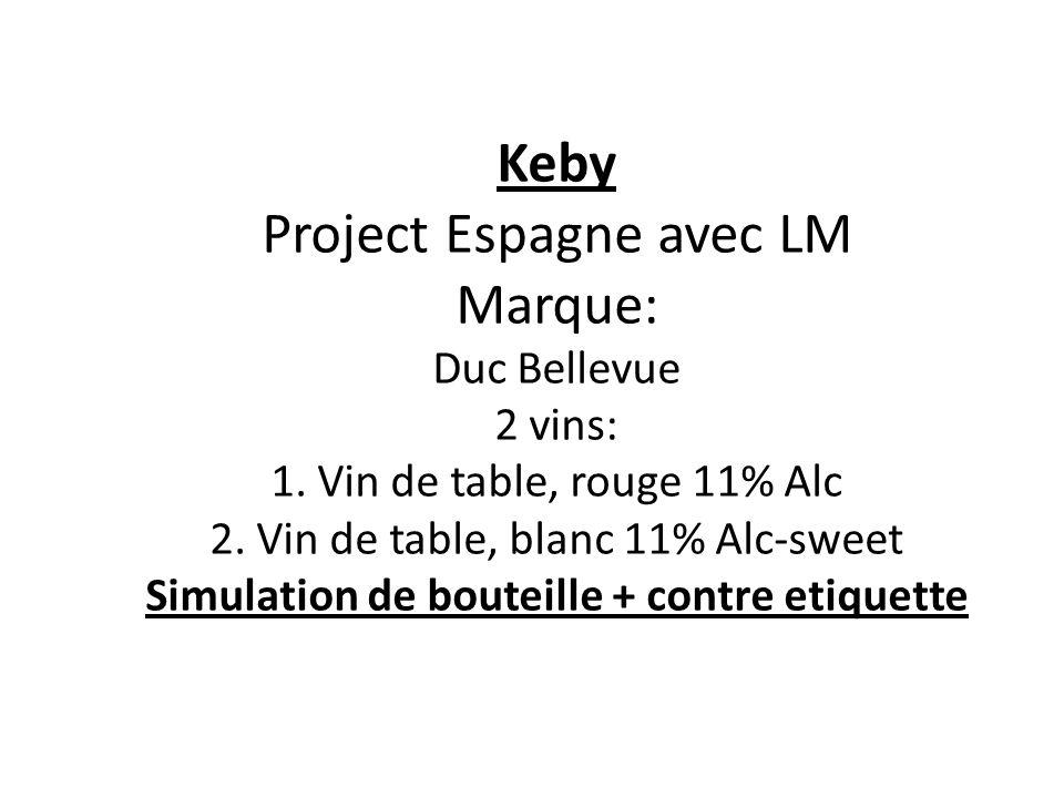 Keby Project Espagne avec LM Marque: Duc Bellevue 2 vins: 1.