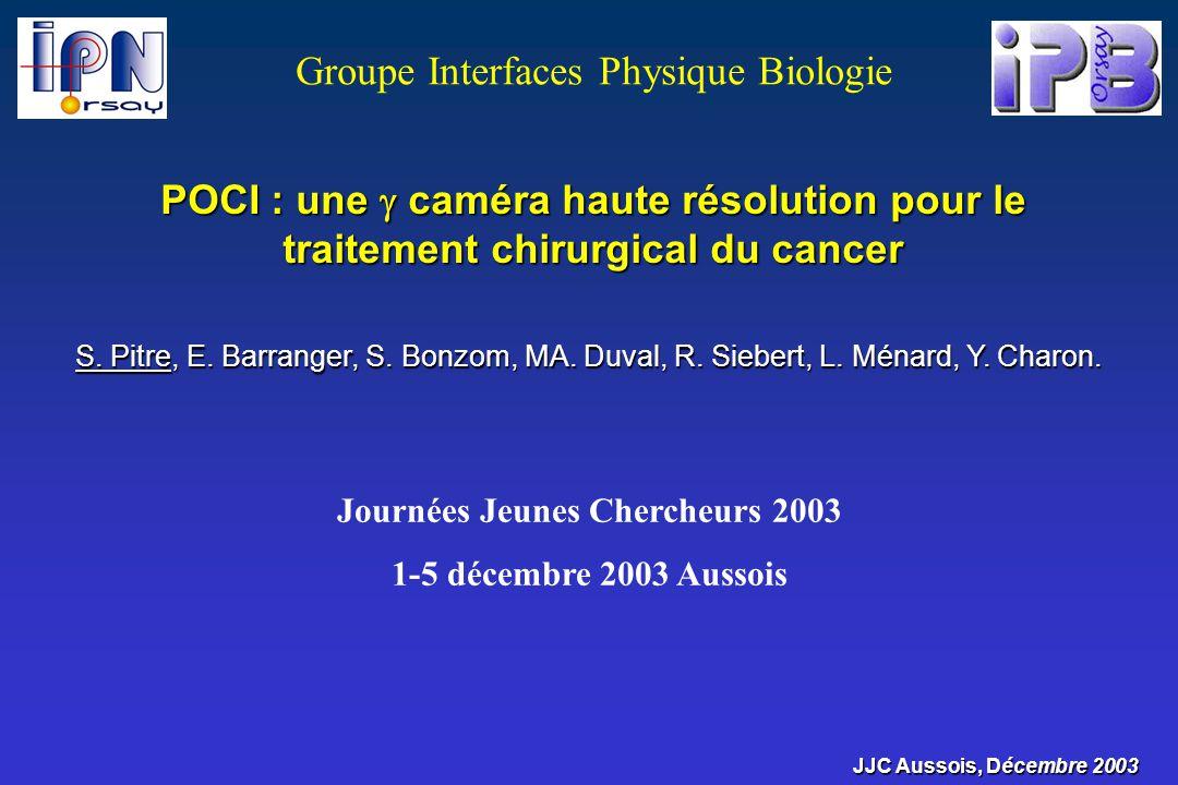 POCI : une caméra haute résolution pour le traitement chirurgical du cancer S. Pitre, E. Barranger, S. Bonzom, MA. Duval, R. Siebert, L. Ménard, Y. Ch