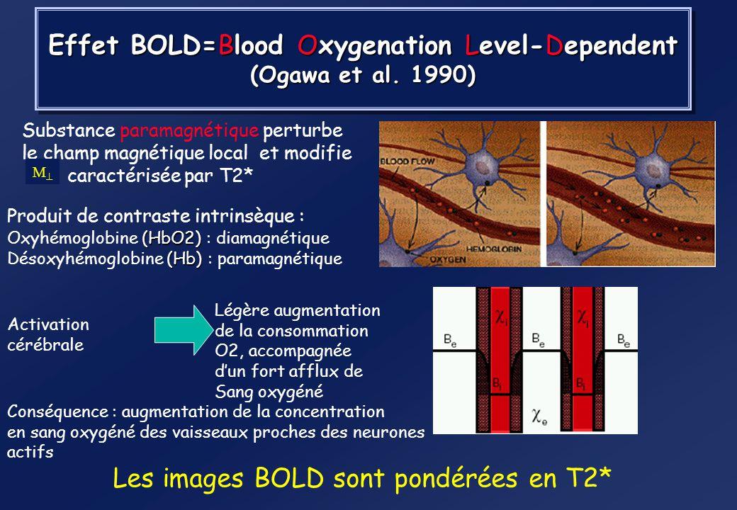 Pondération enT1 Pondération en T2 (ou T2*) 0t T1 court T1 long TR ~ T1 0 t TE ~ T2 Moment longitudinal Moment transverse T2 court T2 long Contraste d