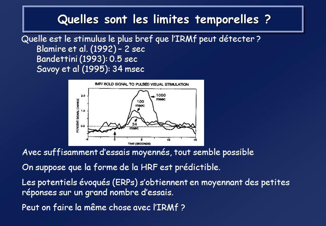 Hypothèse dune dynamique dactivation stable Price et al. 1999, Neuroimage, 10, 36 – 44.