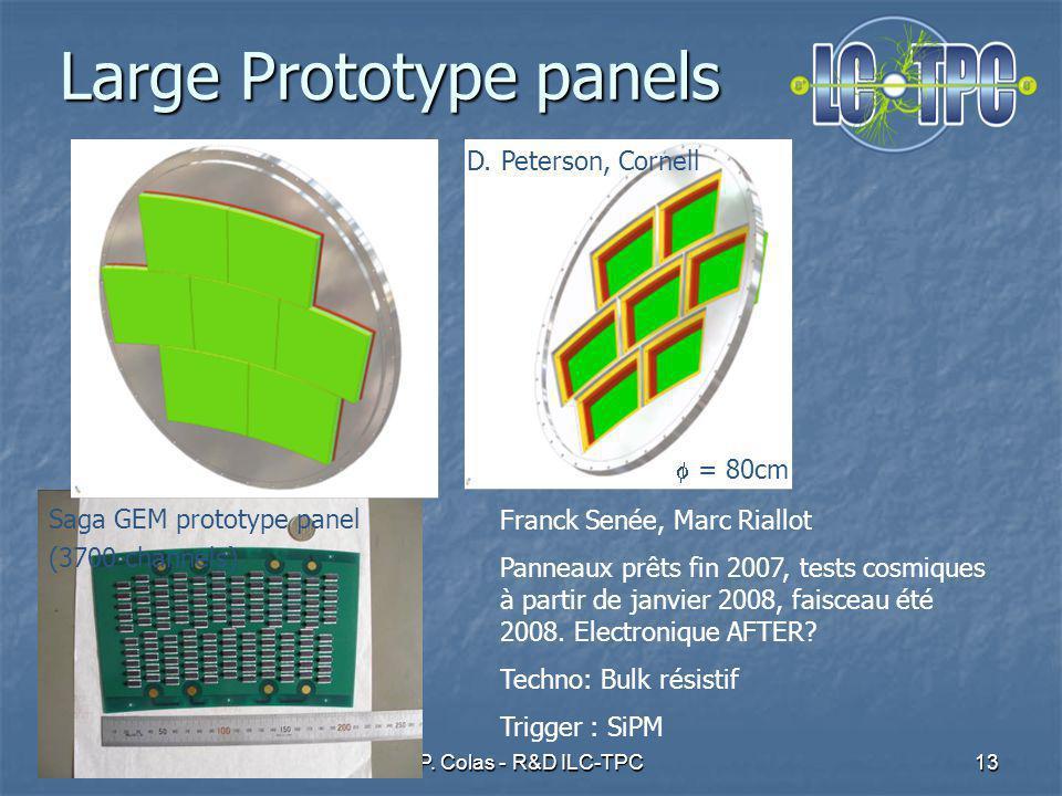 12 juin 2007P.Colas - R&D ILC-TPC13 Large Prototype panels = 80cm D.