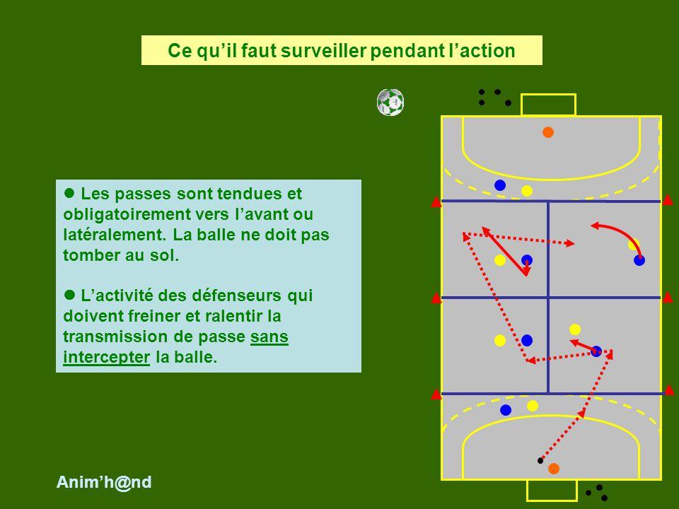 Le porteur de balle ne doit pas se faire toucher balle en main par le défenseur.