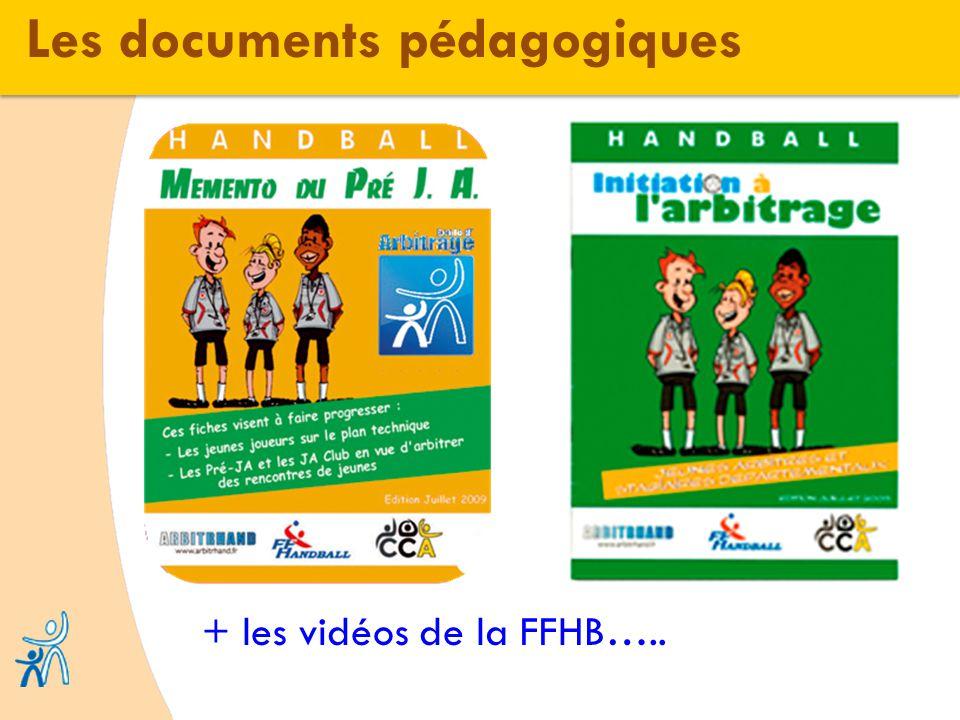 Les documents pédagogiques + les vidéos de la FFHB…..