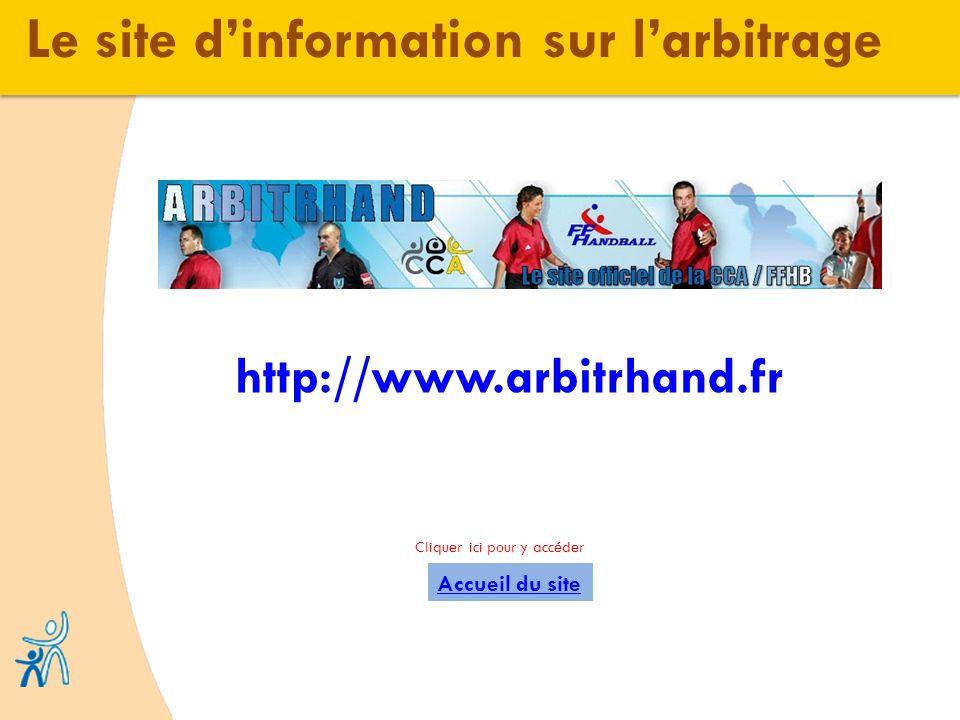 Le site dinformation sur larbitrage Accueil du site http://www.arbitrhand.fr Cliquer ici pour y accéder
