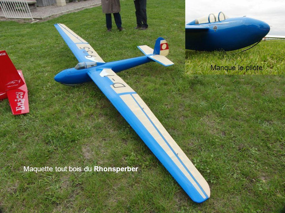 Maquette tout bois du Rhonsperber Manque le pilote