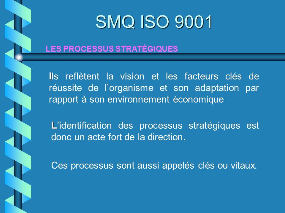 I I ls reflètent la vision et les facteurs clés de réussite de lorganisme et son adaptation par rapport à son environnement économique LES PROCESSUS S