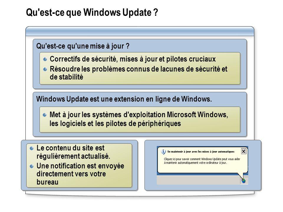 Qu'est-ce que Windows Update ? Qu'est-ce qu'une mise à jour ? Correctifs de sécurité, mises à jour et pilotes cruciaux Résoudre les problèmes connus d