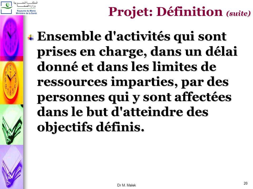 19 Le projet est un processus unique qui consiste en un ensemble d'activités coordonnées et maîtrisées, comportant des dates de début et de fin, entre