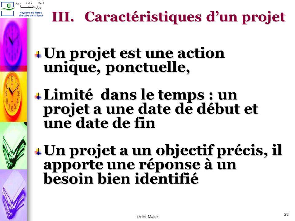 27 Types de Projet (suite) Selon quil s agisse de produits ou de services Projets mous: dont le produit nest que partiellement tangible; requiert prin