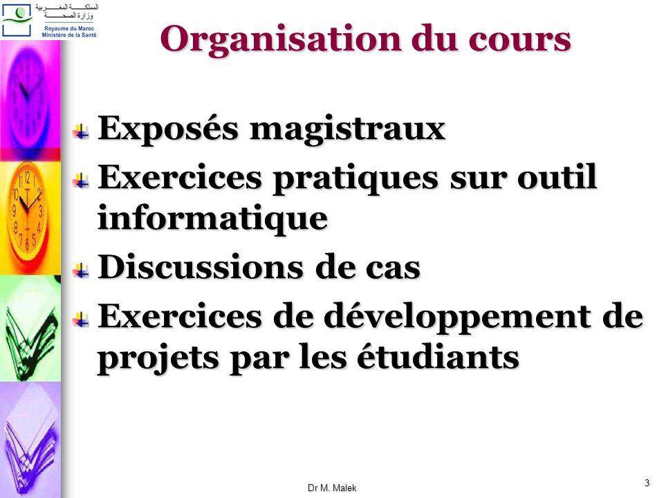 2 Objectifs du cours Au terme du cours Gestion du projet Définir ce quest un projet Définir les composantes dun projet Définir les différentes phases