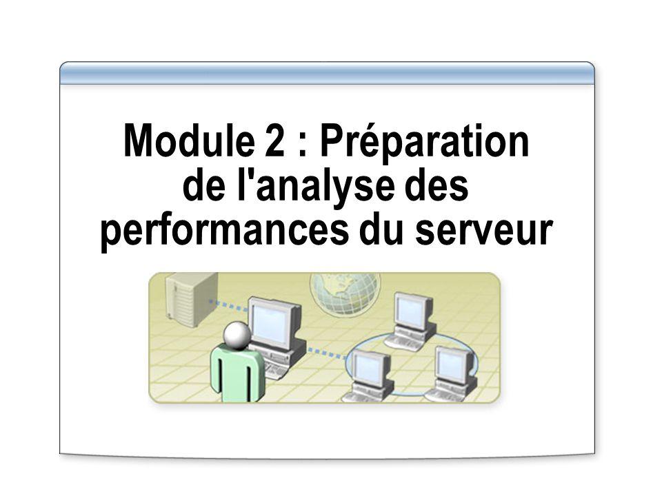 Module 2 : Préparation de l'analyse des performances du serveur