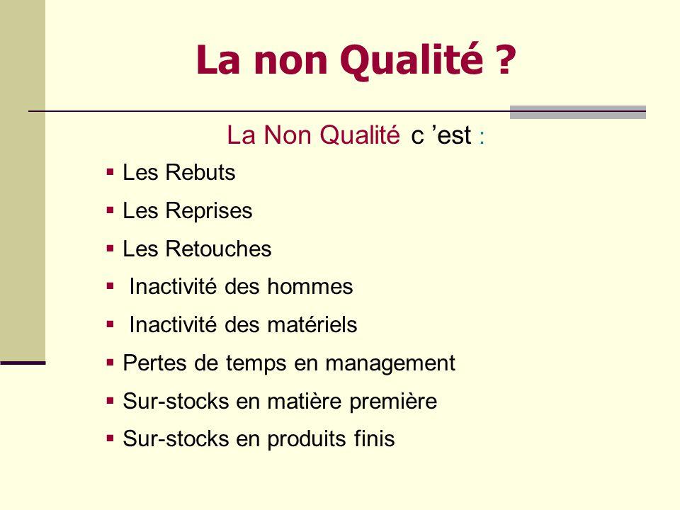 Quest ce que la Qualité ? Au fond, La démarche qualité est une démarche logique Et de bon sens ! Cest relatif