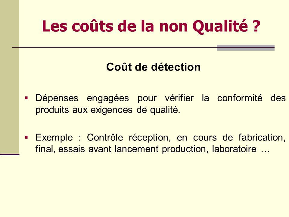 La non Qualité ? La qualité analyse et mesure les faits et non les individus: