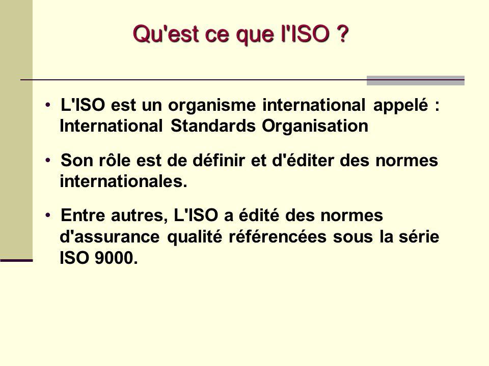 Outil de Management Le Référentiel ISO 9001