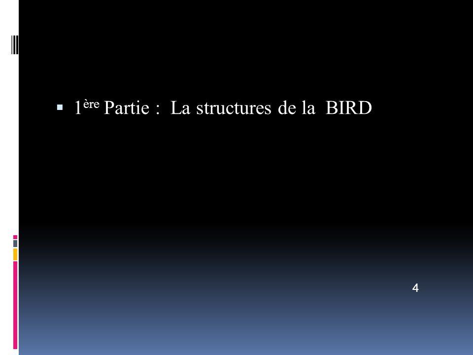 1 ère Partie : La structures de la BIRD 4