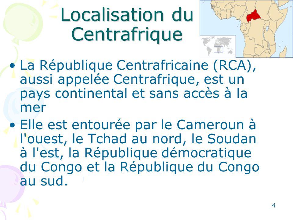 Histoire Cest essentiellement entre 1889 et 1914 que sest accomplie lexploration du territoire centrafricain Les Français colonisèrent la région à la fin du XIXe siècle et l administrèrent sous le nom d Oubangui-Chari Durant la Seconde Guerre mondiale, la colonie se joignit aux Forces alliées.