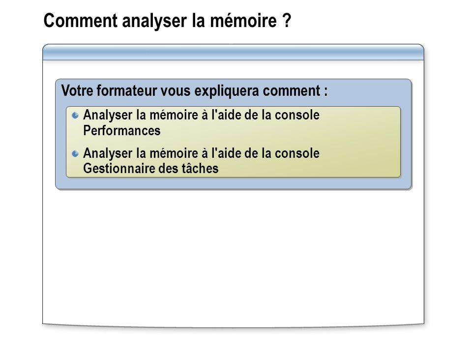Comment analyser la mémoire .
