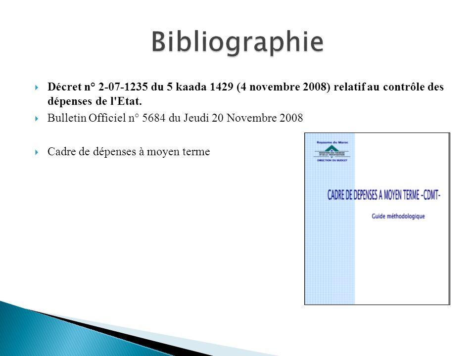 Décret n° 2-07-1235 du 5 kaada 1429 (4 novembre 2008) relatif au contrôle des dépenses de l'Etat. Bulletin Officiel n° 5684 du Jeudi 20 Novembre 2008