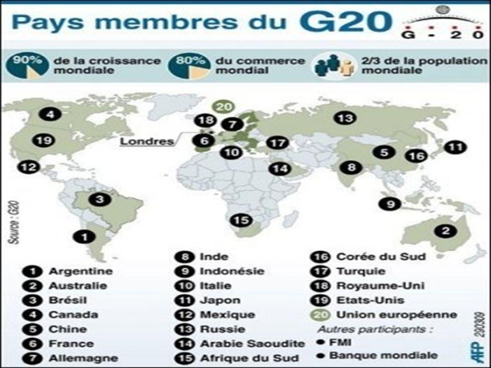 Les pays y sont représentés par: Les ministres des nances Les directeurs des banques centrales.