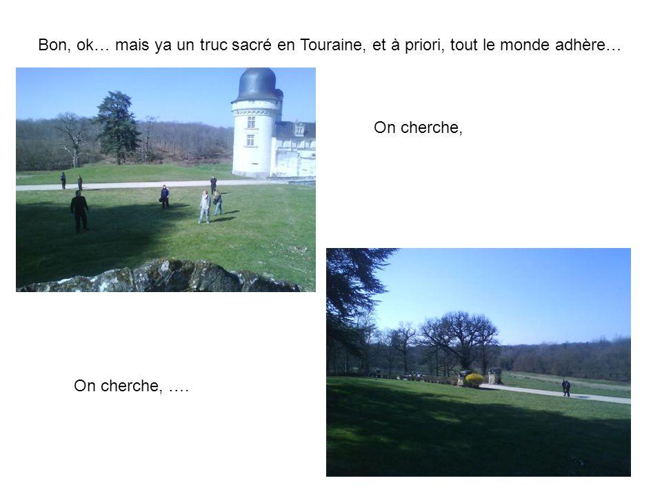 Bon, ok… mais ya un truc sacré en Touraine, et à priori, tout le monde adhère… On cherche, On cherche, ….