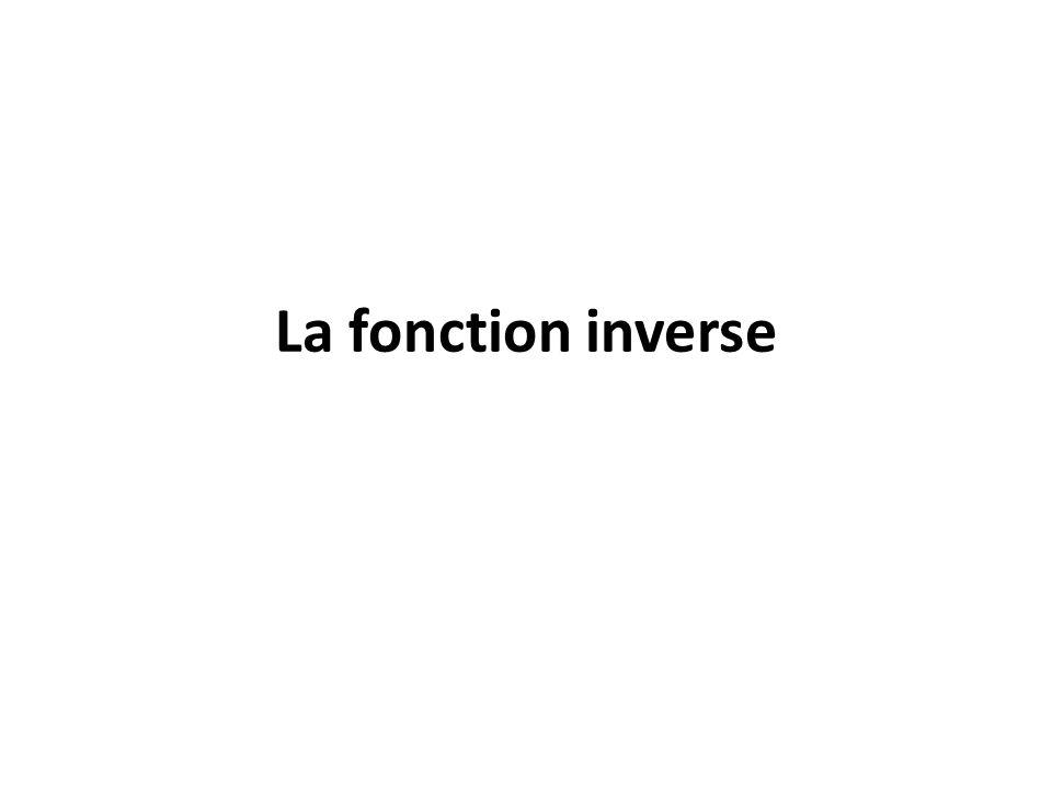 La fonction inverse