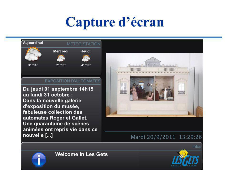 Capture décran