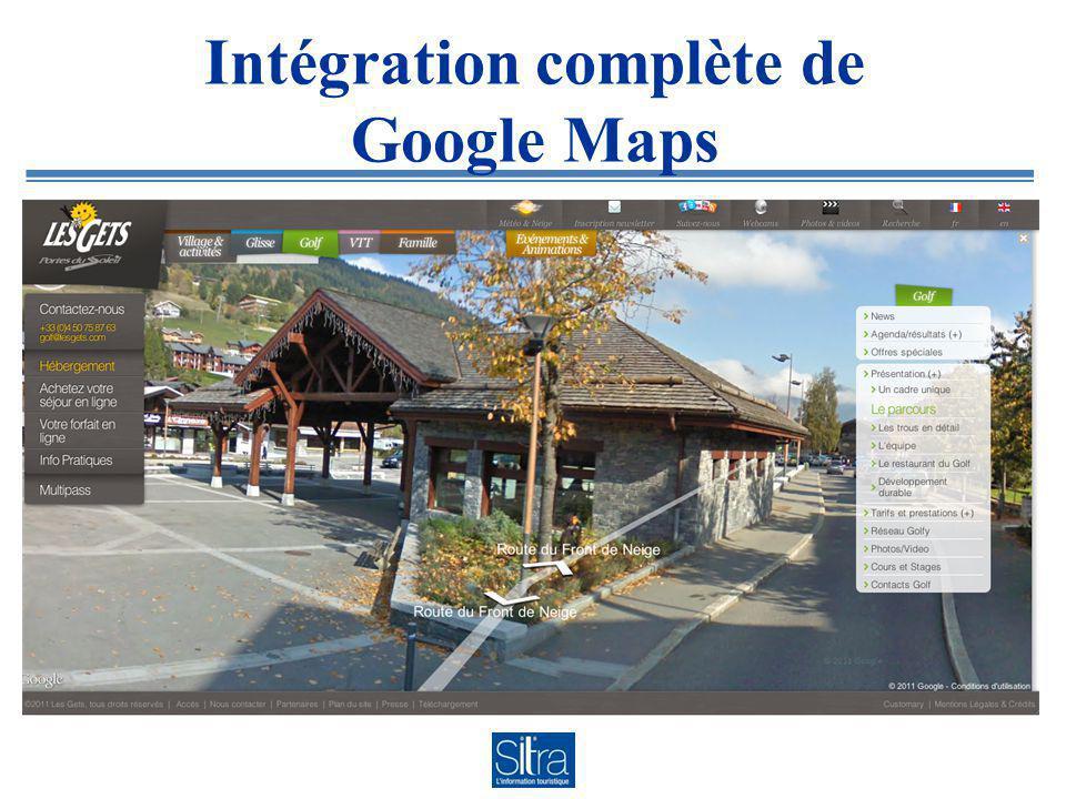 Intégration complète de Google Maps