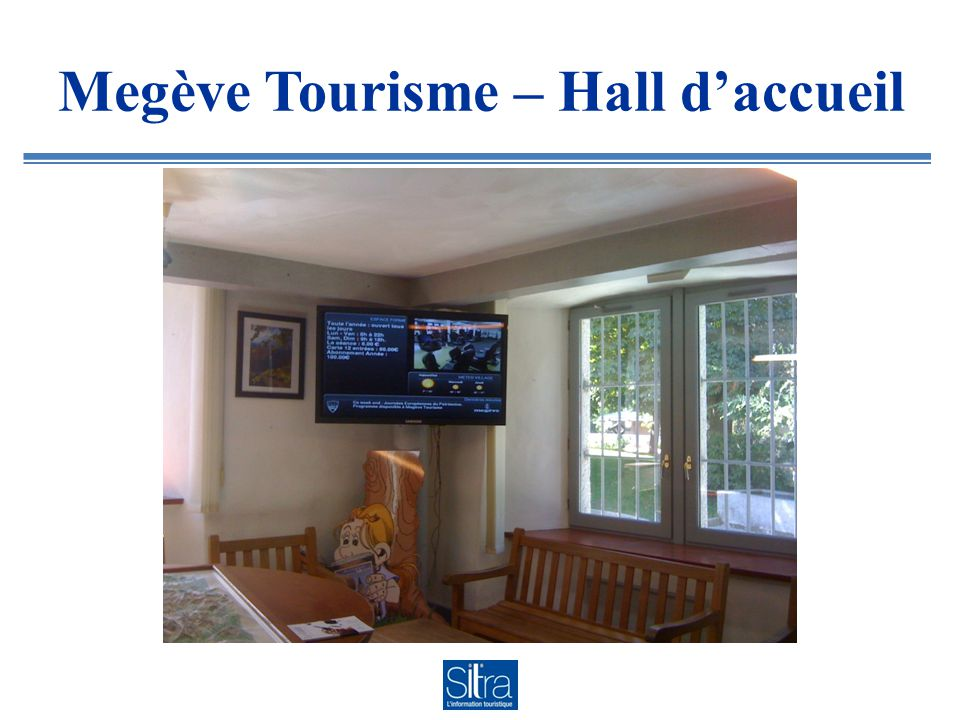 Megève Tourisme – Hall daccueil