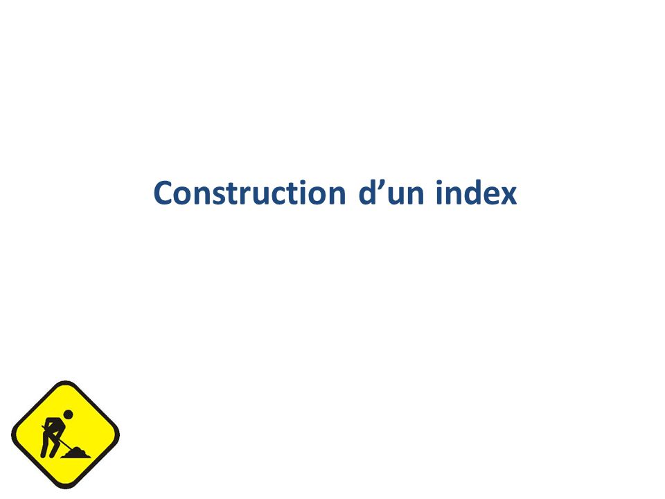 Construction dun index