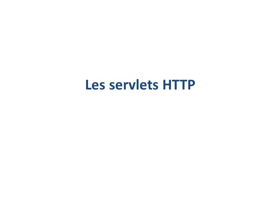 Les servlets HTTP