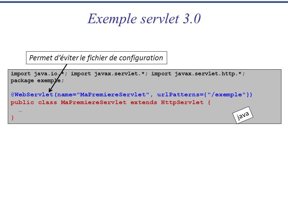 Programmation Web JSP Xavier Tannier HttpSessionListener Pour surveiller la création et la disparition de sessions Méthodes : – void sessionCreated(HttpSessionEvent se); – void sessionDestroyed(HttpSessionEvent se); – (puis se.getSession() pour obtenir la session en question) À déclarer dans web.xml (ou avec lannotation @WebListener dans les servlets 3.0) 27 exemple.sessionListenerExemple web.xml