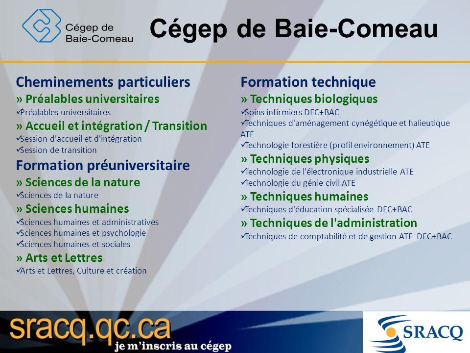 Cégep de Baie-Comeau Cheminements particuliers » Préalables universitaires Préalables universitaires » Accueil et intégration / Transition Session d'a