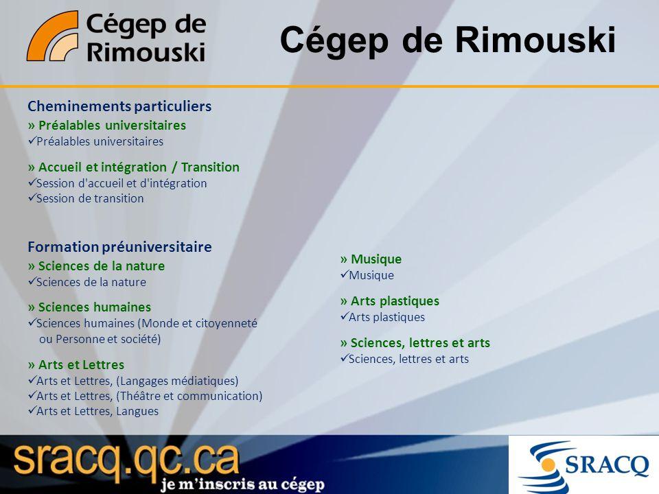 Cégep de Rimouski Cheminements particuliers » Préalables universitaires Préalables universitaires » Accueil et intégration / Transition Session d'accu