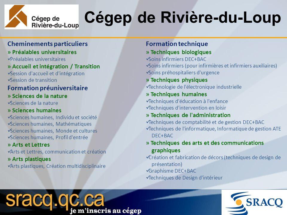 Cégep de Rivière-du-Loup Cheminements particuliers » Préalables universitaires Préalables universitaires » Accueil et intégration / Transition Session