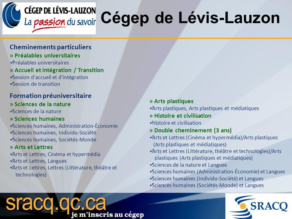 Cégep de Lévis-Lauzon Cheminements particuliers » Préalables universitaires Préalables universitaires » Accueil et intégration / Transition Session d'