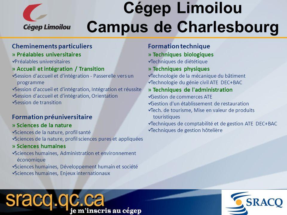 Cégep Limoilou Campus de Charlesbourg Cheminements particuliers » Préalables universitaires Préalables universitaires » Accueil et intégration / Trans