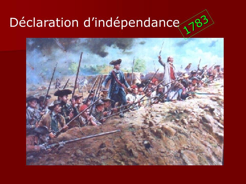 Déclaration dindépendance 1783