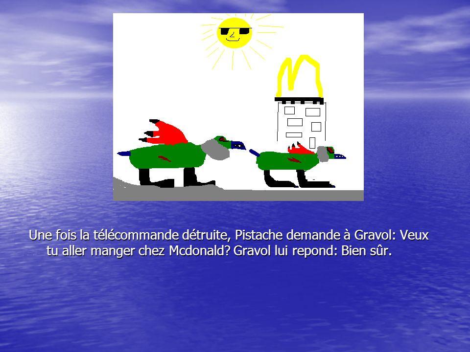 Gravol appelle la police pour arrêter Gaspar et Pistache détruit la télécommande.