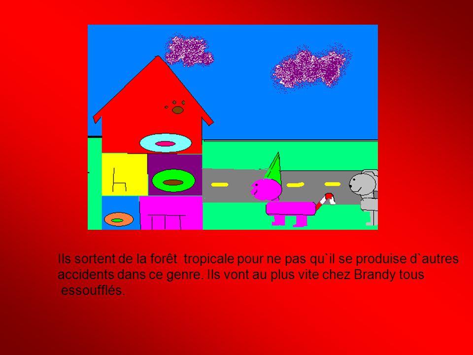 Brandy demande à Rosabelle, Boubou et Patapouf ;Voulez-vous rester coucher ici .
