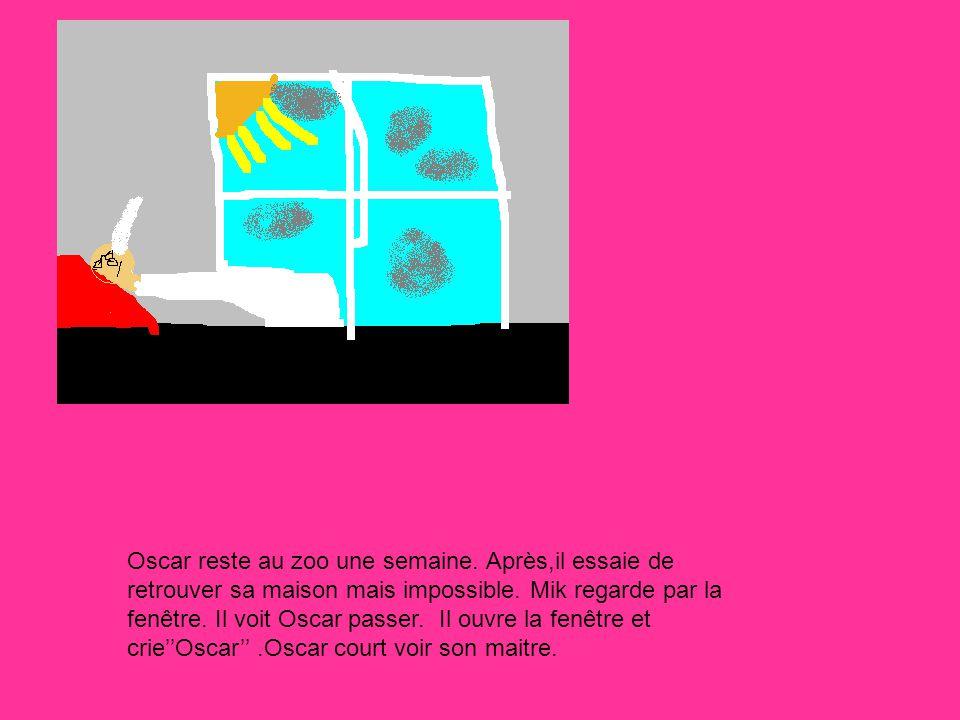 FIN!!!!!!!!!!!**$ Mik réchauffe Oscar et dit: tu mas manqué.