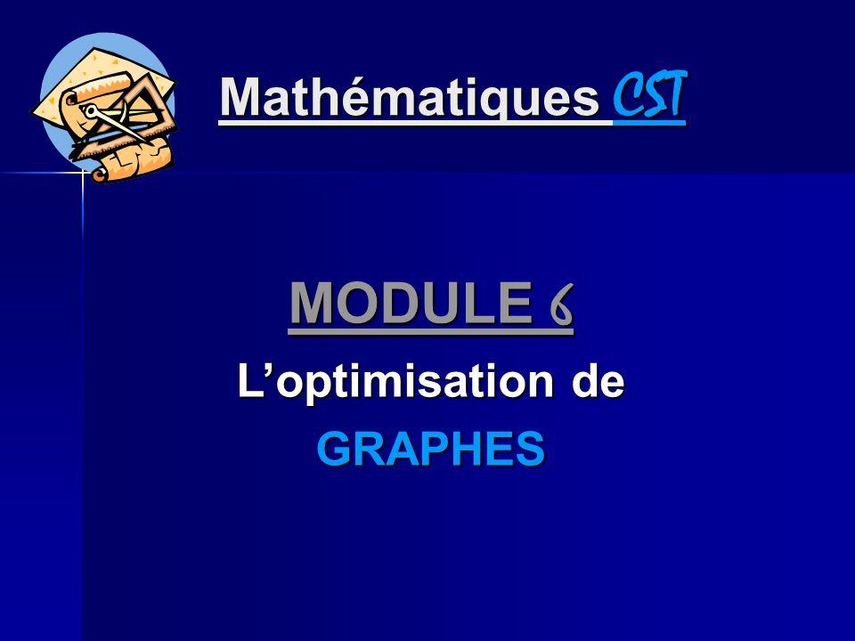 Mathématiques CST MODULE 6 Loptimisation de GRAPHES
