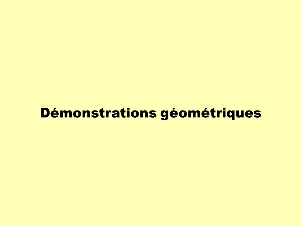 Démonstrations géométriques