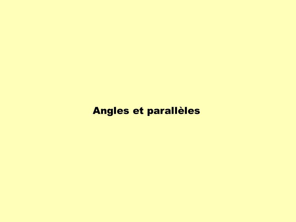 Angles et parallèles
