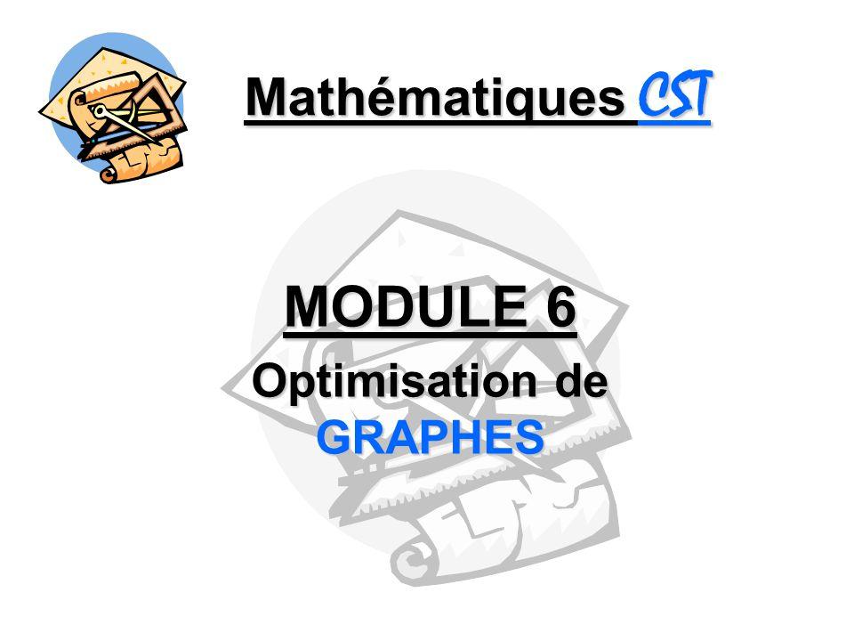 Mathématiques CST MODULE 6 Optimisation de GRAPHES